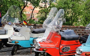 Picture motorbike, moped, moped exhibition