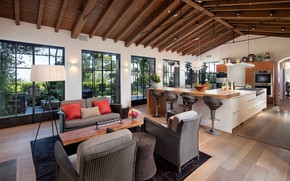 Picture Villa, interior, kitchen, ranch, Provence in Hope Ranch