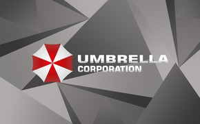 Picture red, logo, game, Resident Evil, Umbrella, gray, Biohazard, Umbrella Corp., japonese, Umbrella Co., by ploterka, …