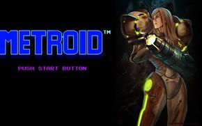 Picture Girl, Figure, The game, Logo, Art, Samus Aran, Metroid, Samus, Samus Aran, Aran, Metroid Samus …