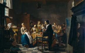 Picture people, interior, picture, New Song, Jan Josef II Horemans