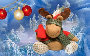 Picture winter, toy, new year, a celebration
