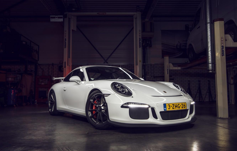 Photo wallpaper 911, Porsche, GT3, Garage