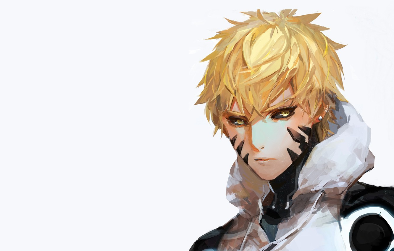 Photo wallpaper look, art, guy, cyborg, One Punch Man, Genos