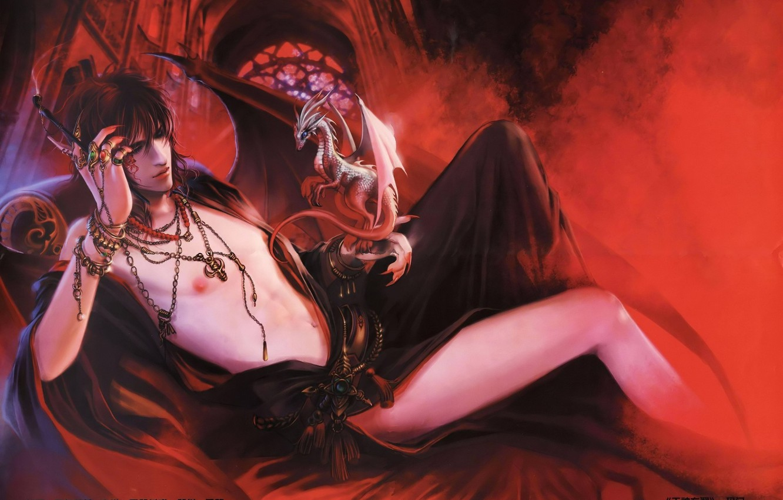 Photo wallpaper sexy, the demon, art, guy