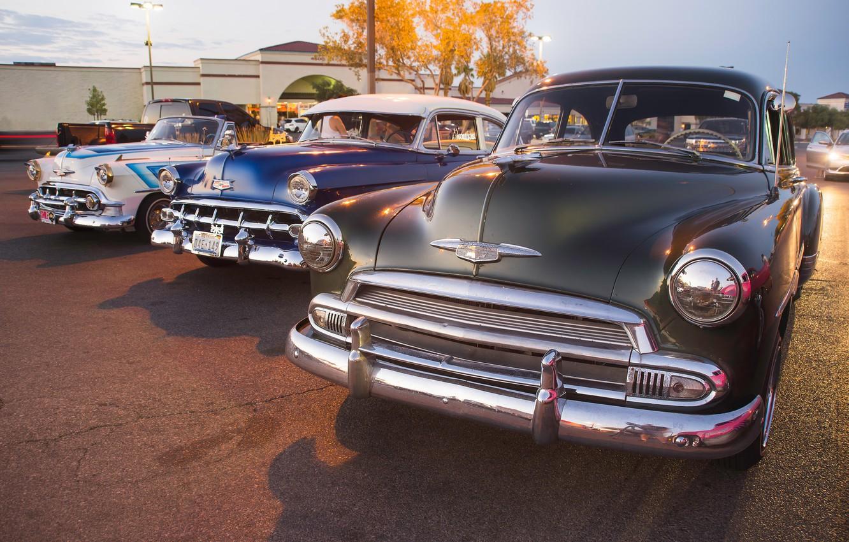 Photo wallpaper Retro, cars, Chevy, Classic