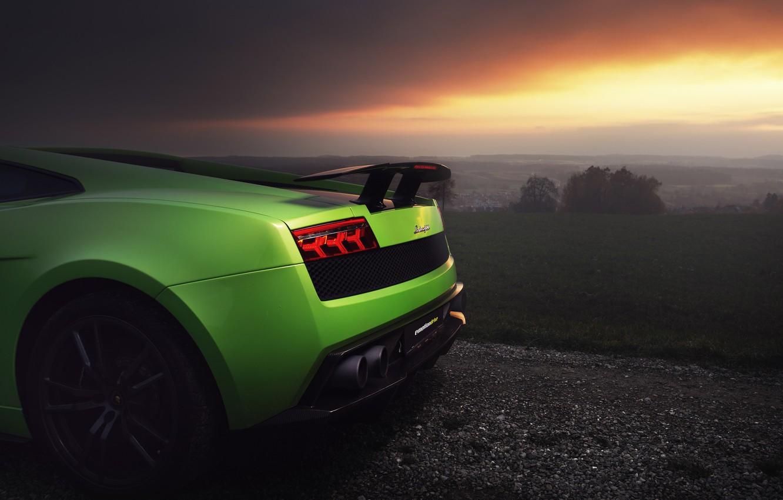 Photo wallpaper green, Lamborghini, Superleggera, Lamborghini Gallardo, Lamborghini Gallardo Superleggera