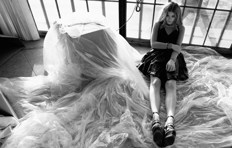 Photo wallpaper actress, black and white, Chloe Grace Moretz
