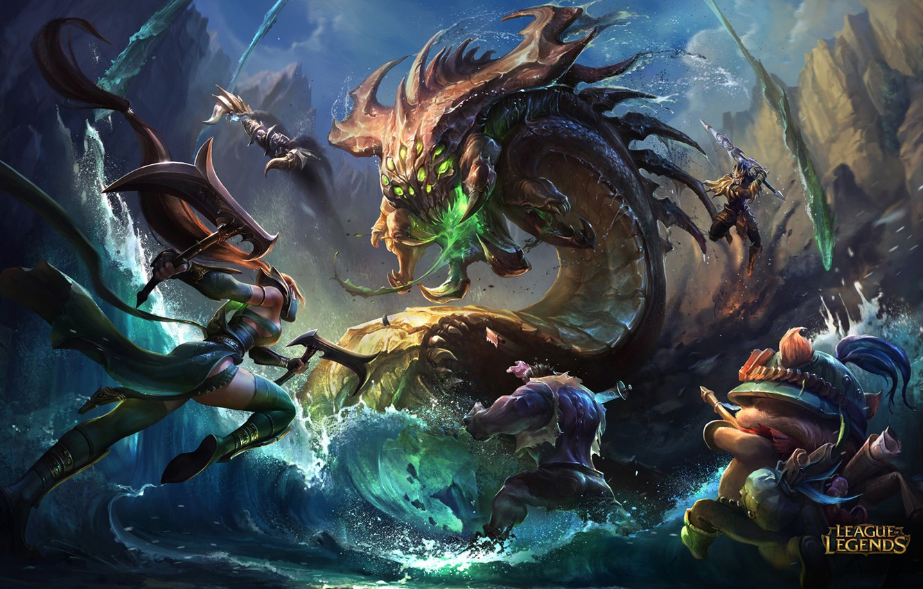 Photo wallpaper the game, battle, fantasy, art, champion, season 6, league of legends