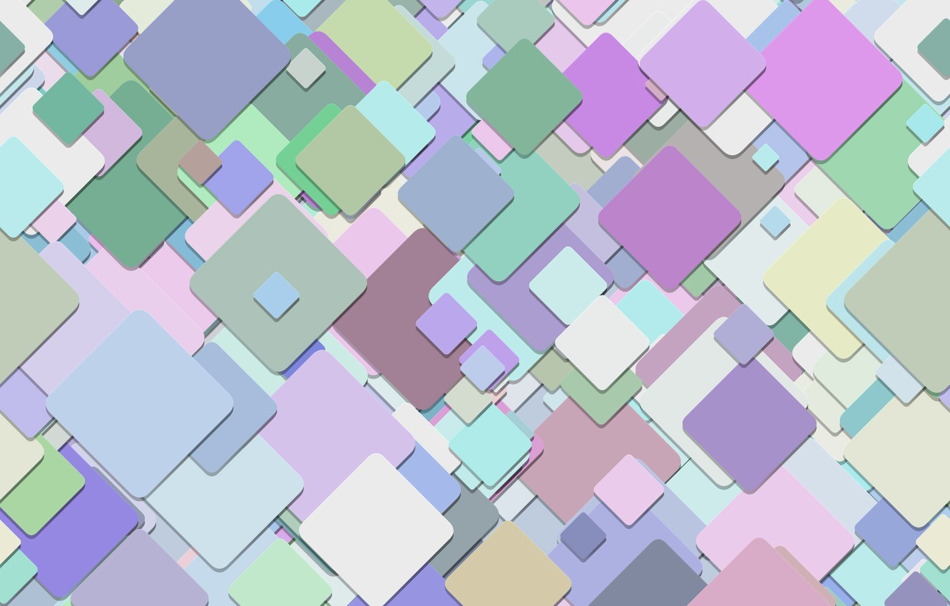 Photo wallpaper abstraction, geometry, background, pattern, squares, multicolor