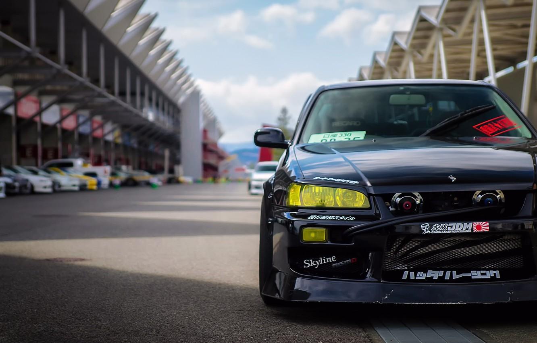 Photo wallpaper Nissan, Skyline, speedhunters, Unite, R34s, photo Ron Celestine, Storm Fuji Speedway