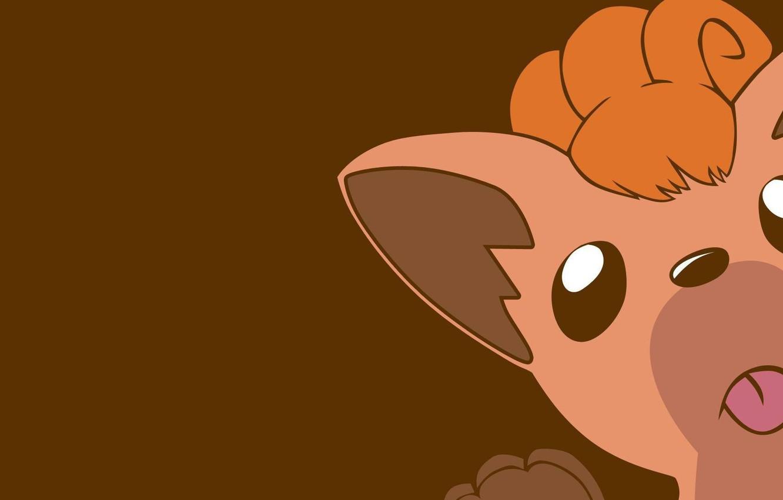 Photo wallpaper language, Fox, tail, ears, fox, tail, Pokemon, bangs, pokemon, tails, tails, Vulpix, licked, Vulpix