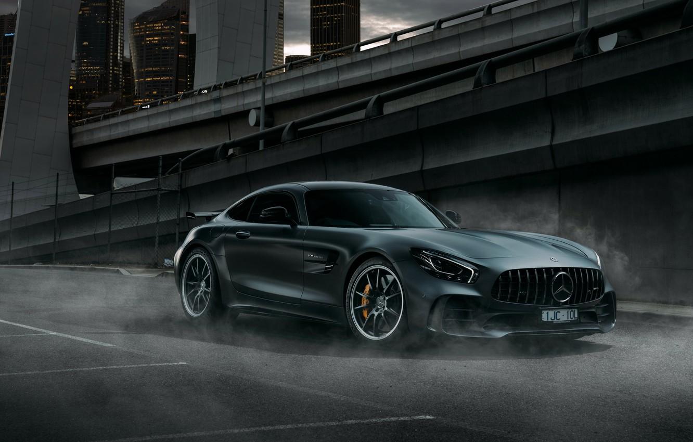 Photo wallpaper the city, Mercedes-Benz, AMG, 2018, GT R