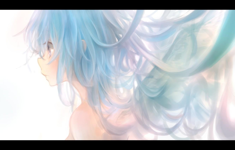 Photo wallpaper girl, wings, anime, art, profile, milkuro, mari
