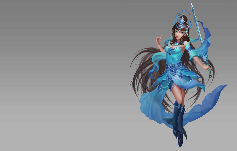 Photo wallpaper the game, fantasy, art, illustrator, Swordsman, costume design, Zhifeng Deng