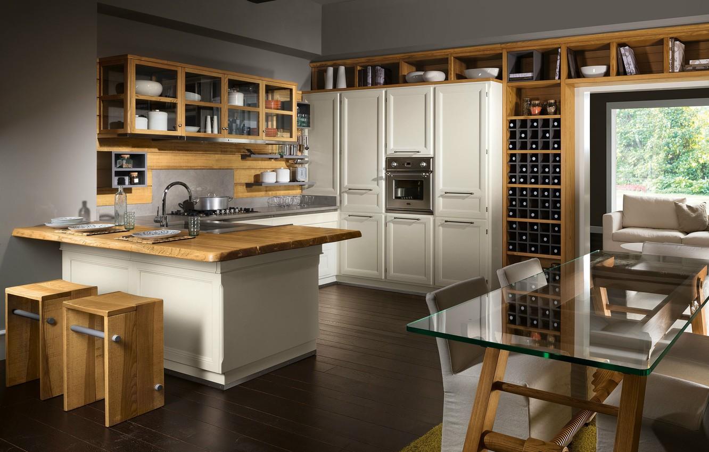 Photo wallpaper design, style, interior, kitchen, dining room, residential prostanstvo