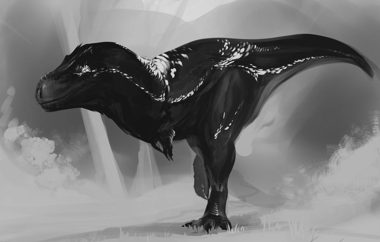 Photo wallpaper background, dinosaur, predator