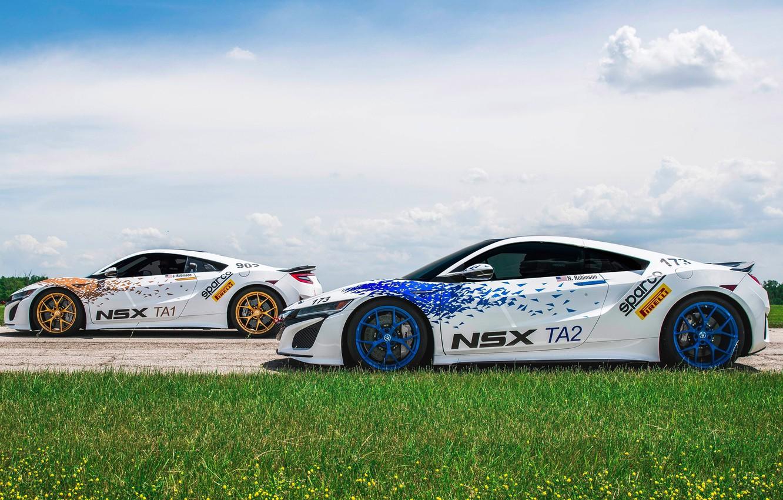 Photo wallpaper car, race, speed, Acura, Acura NSX, Sparco