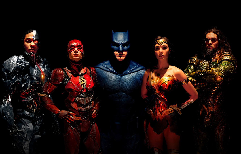 Photo wallpaper fiction, black background, Wonder Woman, poster, Batman, Ben Affleck, comic, costumes, superheroes, DC Comics, Bruce …