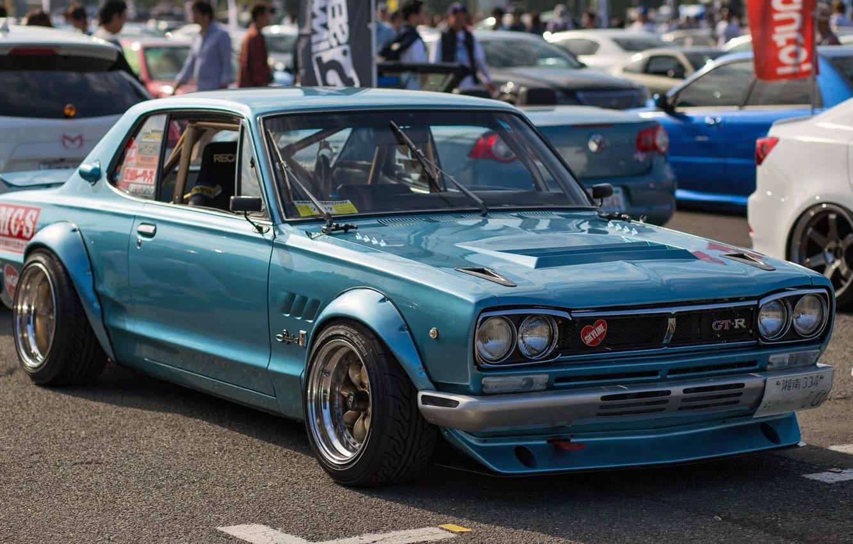 Photo wallpaper Auto, Blue, Machine, Nissan, Nissan, Car, 2000, Skyline, Nissan Skyline, 2000GT, Japanese, 2000GT-R, 2000 GT, …