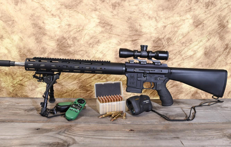 Photo wallpaper optics, assault rifle, fry