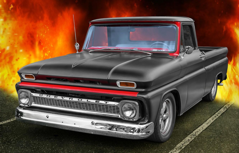 Photo wallpaper Chevrolet, 1965, CK Truck