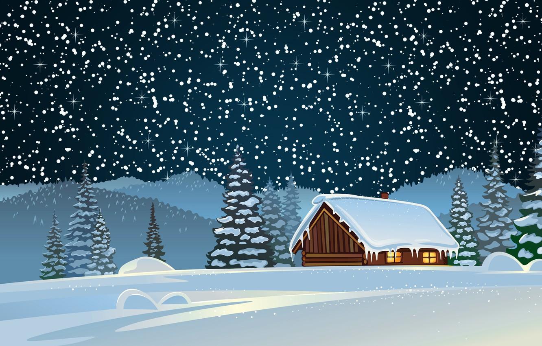 novyi god prazdnik nastroenie fon sneg zima dom rozhdestvo l