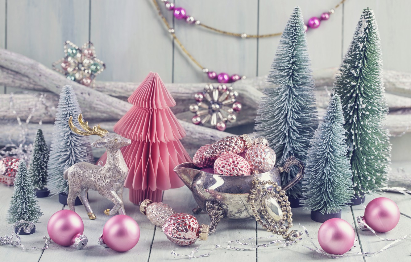 Photo wallpaper decoration, balls, tree, New Year, Christmas, gifts, happy, Christmas, vintage, New Year, Merry Christmas, Xmas, …
