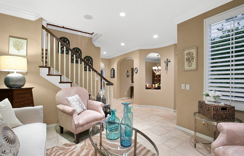 Photo wallpaper design, chair, ladder, living room, hall