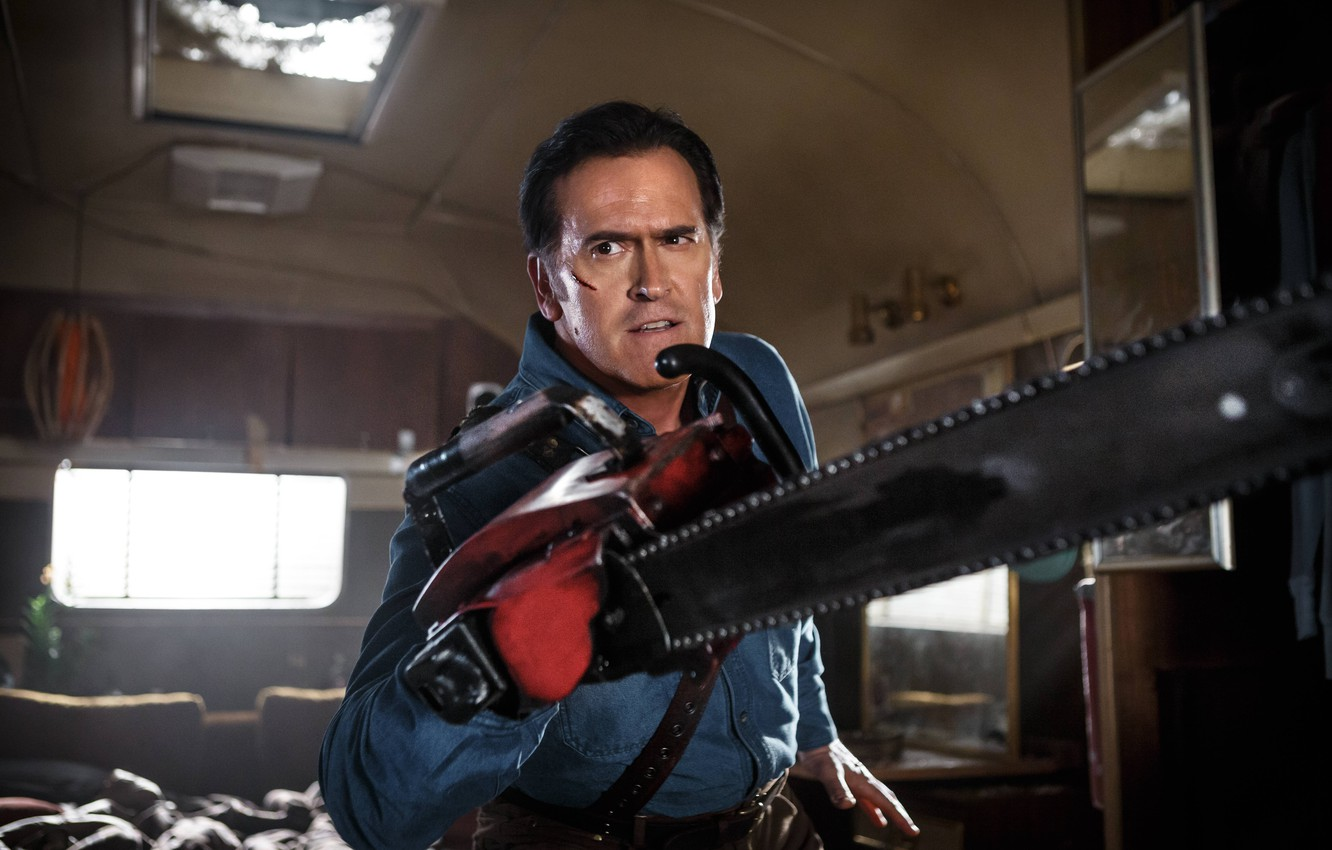 Wallpaper Blood Saw Scar Tv Series Evil Dead Bruce Campbell Ash Williams Ash Vs Evil Dead Images For Desktop Section Filmy Download