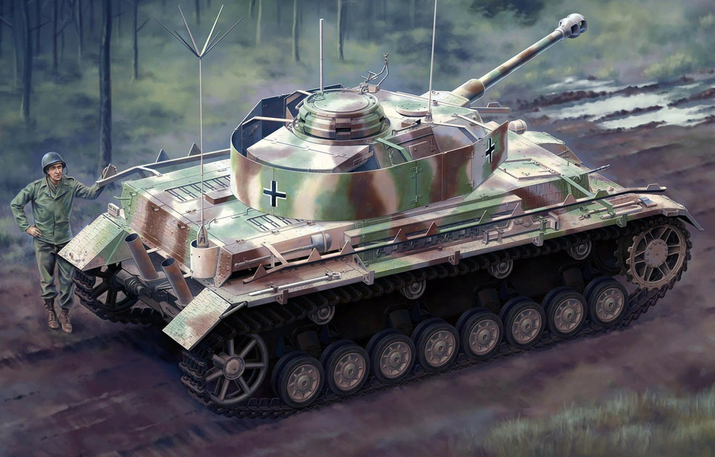 Wallpaper medium tank, Panzerkampfwagen IV, 75 mm, Pz.Kpfw