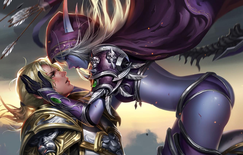 Photo wallpaper World of Warcraft, Sylvanas Windrunner, Anduin Wrynn
