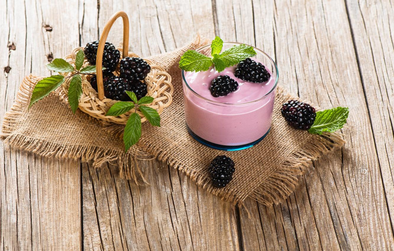 Photo wallpaper berries, drink, BlackBerry, smoothies