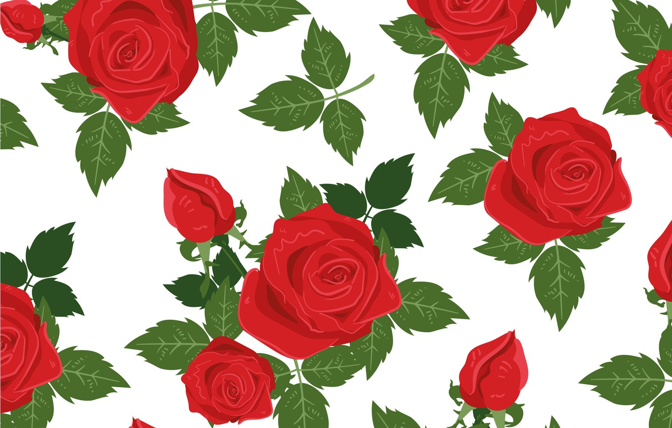 Wallpaper Flowers Background Vector Roses Texture Rose