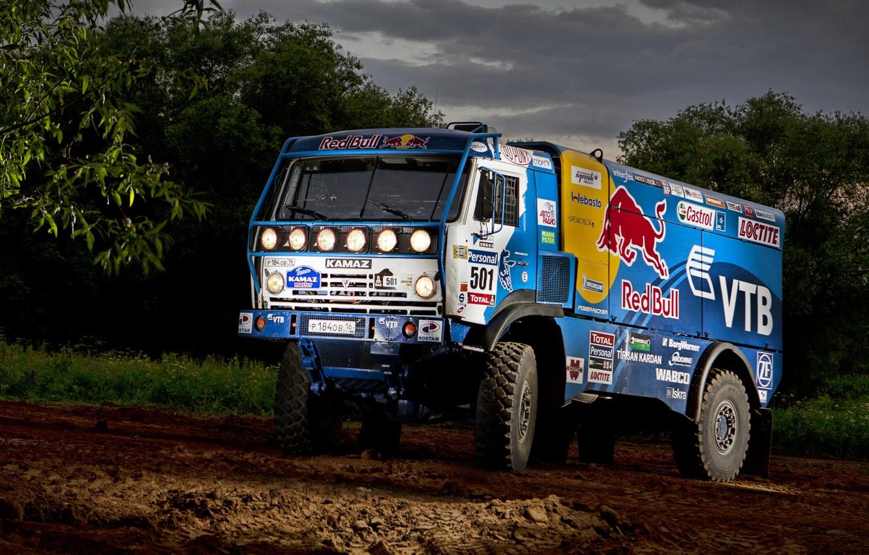 Photo wallpaper Nature, Sport, Speed, Truck, Race, Master, Beauty, Russia, Beast, Kamaz, Rally, Dakar, Dakar, Rally, KAMAZ, …