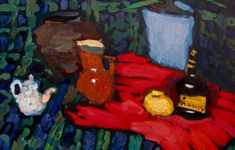 Photo wallpaper lemon, kettle, pitcher, still life, 2010, cognac, al, The petyaev