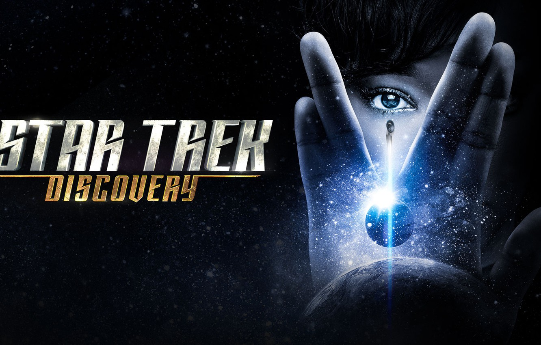 Photo wallpaper space, star, Enterprise, Star Trek, blue, science fiction, spaceship, sci-fi, movie, face, planet, poster, eye, ...