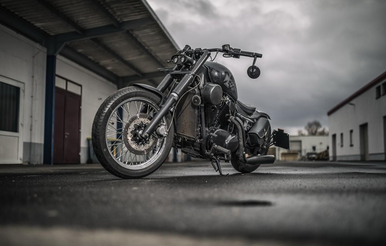 Photo wallpaper background, motorcycle, Kawasaki VN 1500