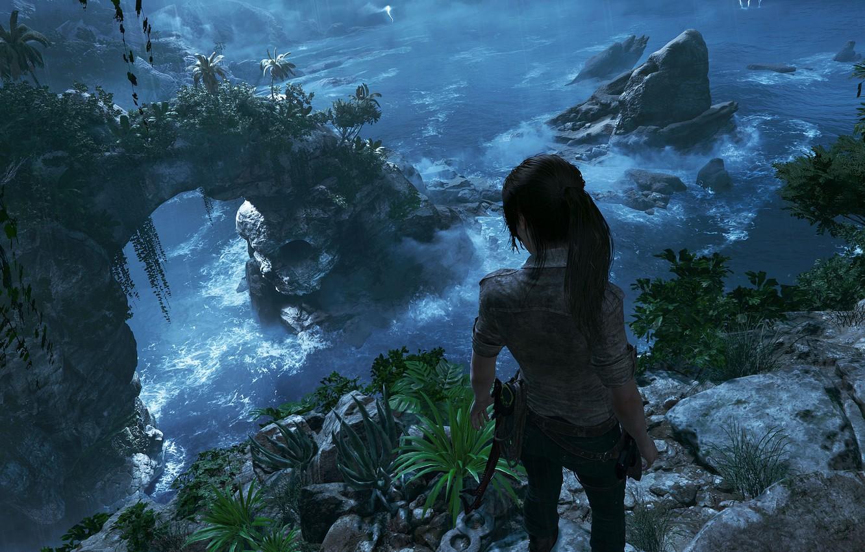 Photo wallpaper hair, mountain, Tomb Raider, Lara Croft, icebreaker, Shadow of the Tomb Raider