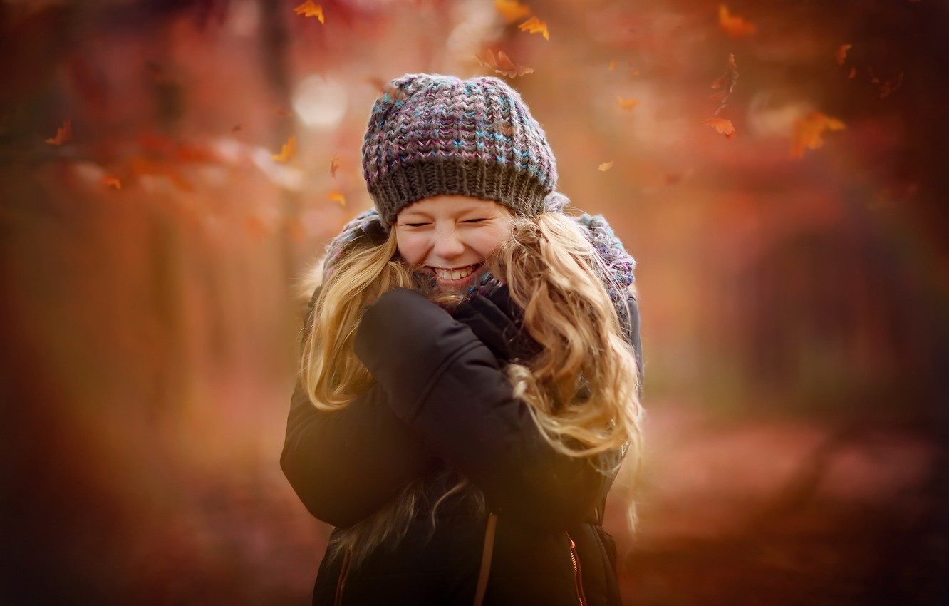 Photo wallpaper autumn, portrait, girl