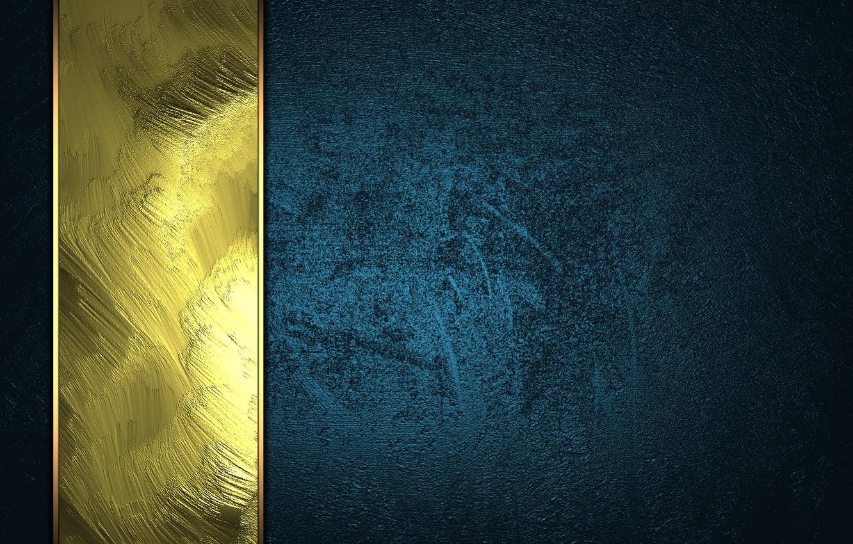 Photo wallpaper dark, golden, texture, blue, background, luxury