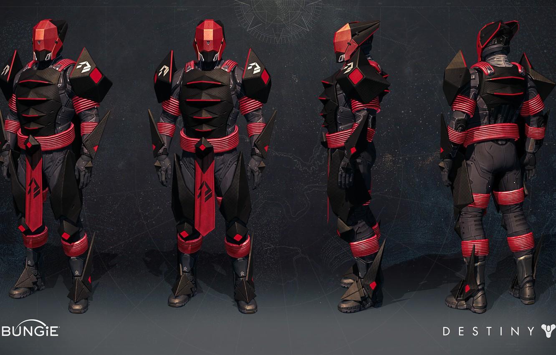 Wallpaper Concept Red Armor Pearls Destiny Destiny Rise Of