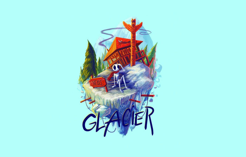 Photo wallpaper Music, Glacier, Cover, Monstercat, Neos