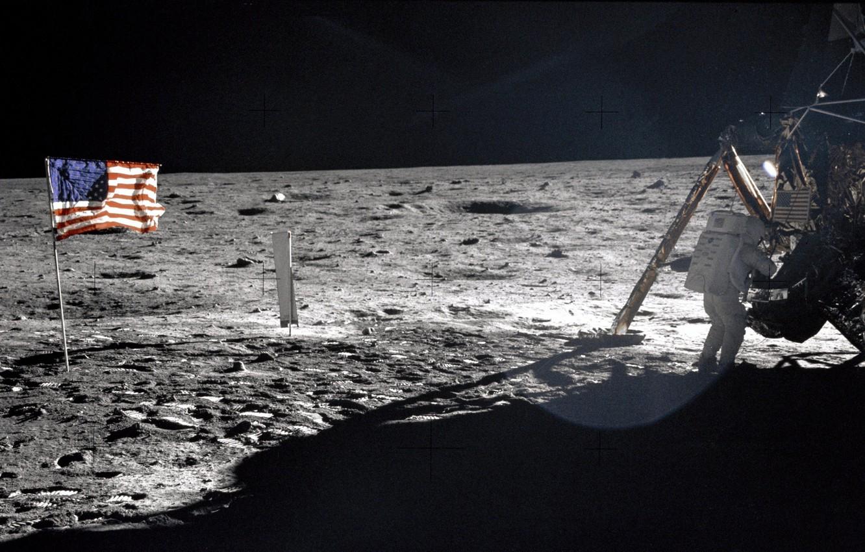 astronavt ssha flag luna