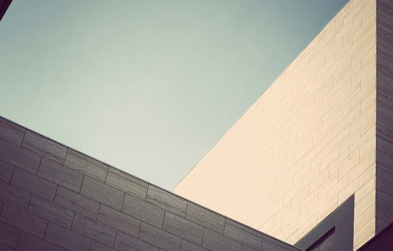 Photo wallpaper summer, the building, minimalism, light