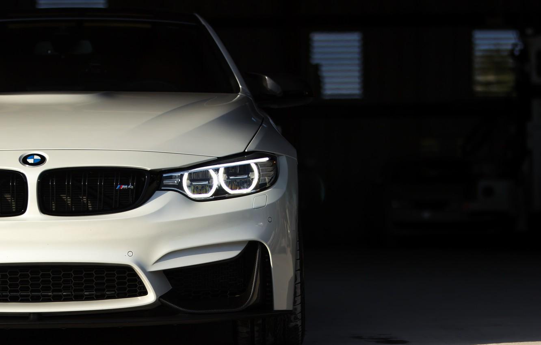 Photo wallpaper BMW, Predator, White, Sight, LED, F83