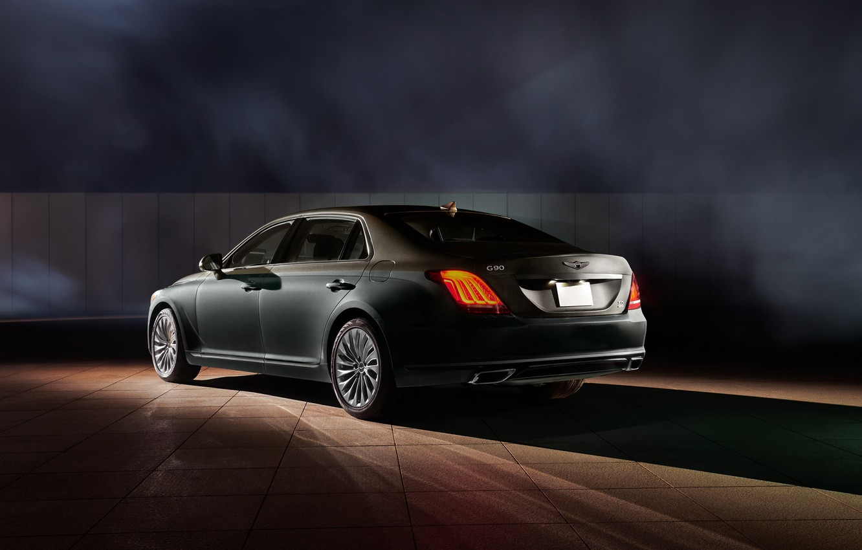 Photo wallpaper Hyundai, rear view, Special Edition, Genesis, Vanity Fair, G90, 2019