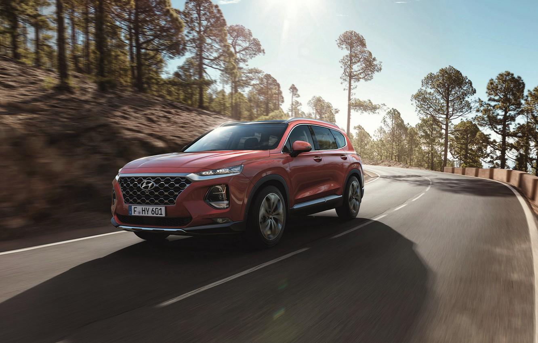 Photo wallpaper Hyundai, crossover, Santa Fe, 2019