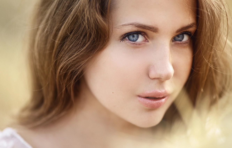 Photo wallpaper look, girl, portrait, Sergey Sorokin