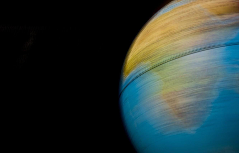 Photo wallpaper travel, rotation, Earth, Africa, globe